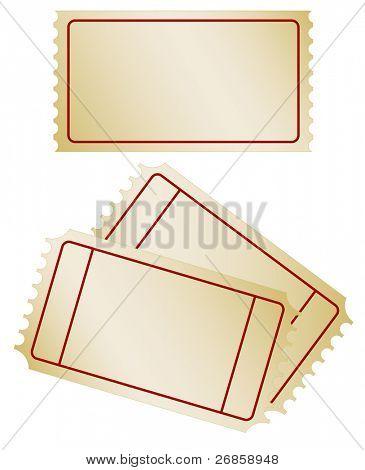 Set of old paper ticket, jpg