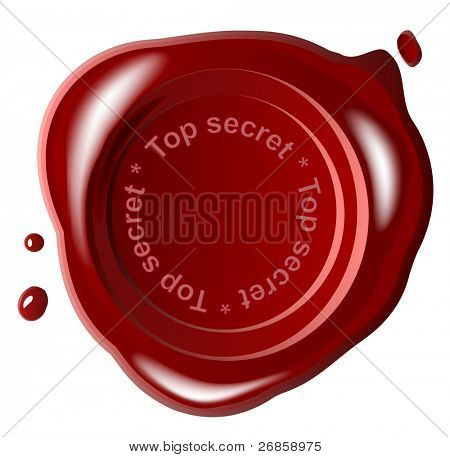Red wax seal ,top secret, jpg