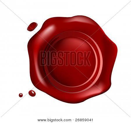 Vector de sello de cera roja