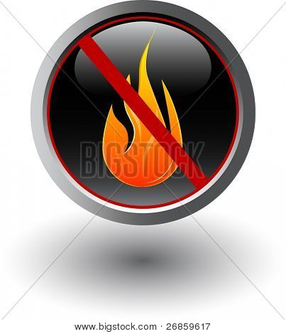 Fire forbidden, sign