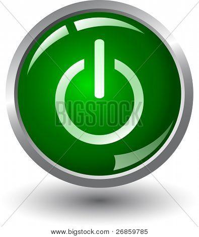 Verde brillante encendido o apagado