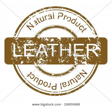 Natural products sale stamps vector set leather
