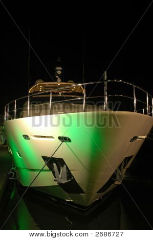 Yacht Light Up For Party In South Beach