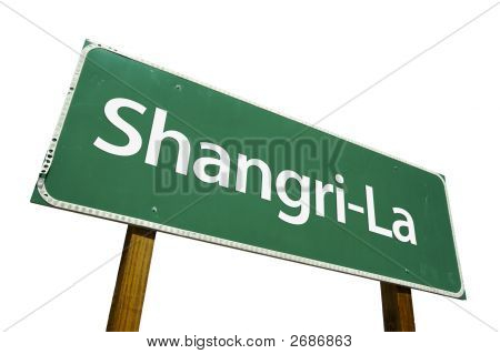 Shangri-La Road Sign