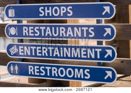 Waterfront Business Signage