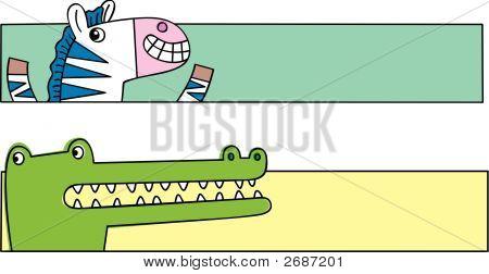 Crocodile And Zebra Banners