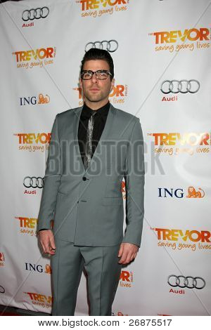 LOS ANGELES - DEC 4:  Zachary Quinto arrives at
