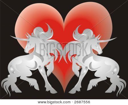 Unicorn And Heart