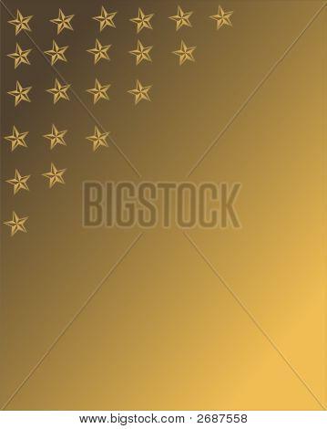 Stars On Golden Background