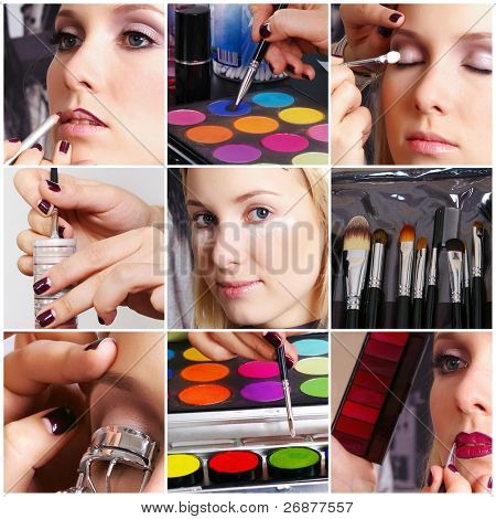 Artista de make-up e seu cliente