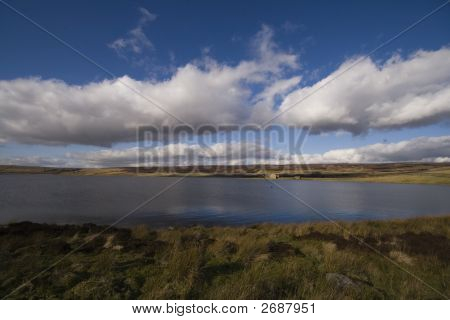 Blue Sky And Clouds Of Grimwith Reservoir