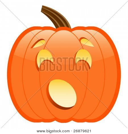 Scared or Surprised Jack-O-Lantern; perfect for Halloween projects