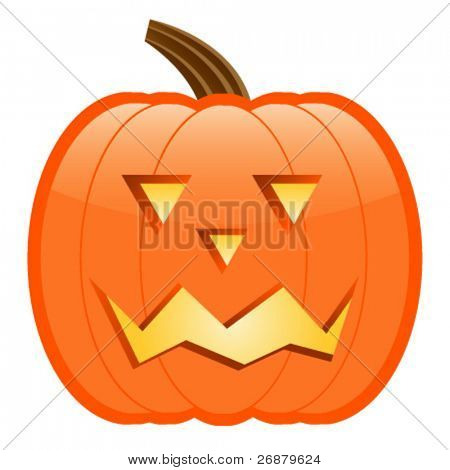 Scary Jack-O-Lantern; perfect for Halloween projects