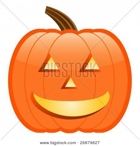 Traditional Happy Jack-O-Lantern; perfect for Halloween projects