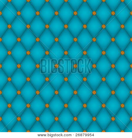 Seamless background tile consisting of soft teal diamonds and shiny copper rivets