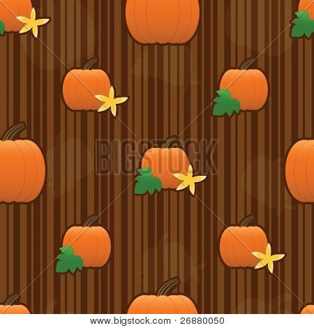 Autumn pumpkins arranged on a seamless striped tile; gradients used.
