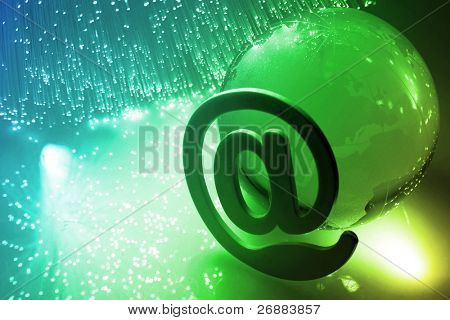 Fiber optical background with lots of light spots