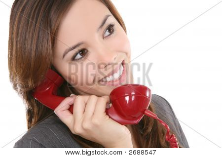 Woman And Phone