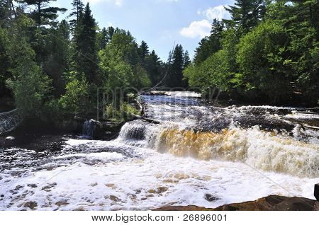 Lower Tahquamenon Falls in  Michigan