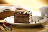 picture of bakeshop  - close up shot of a sliced cake and tea - JPG