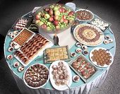 stock photo of bakeshop  - close up shot of Turkish dessert at the buffet - JPG