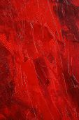 Red Paint Abstract