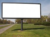 pic of bus-shelter  - empty billboard for your ad - JPG