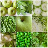 picture of fruits vegetables  - green vegetables and fruit - JPG