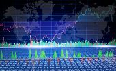 Global Graph Of Cryptocurrency Market. Finance Business Data Concept. Stock Market Graph On The Scre poster