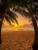 Sea sunrise in Koh Samui island, Thailand. poster