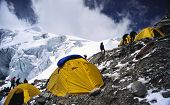 stock photo of nepali  - abc or advance base camp - JPG