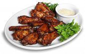 stock photo of baste  - Chicken wings - JPG