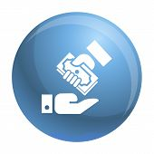 Hand Give Bribery Money Icon. Simple Illustration Of Hand Give Bribery Money Vector Icon For Web Des poster