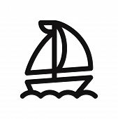 Sail Boat Icon Isolated On White Background. Sail Boat Icon In Trendy Design Style. Sail Boat Vector poster