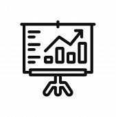 Analytics Presentation Icon Isolated On White Background. Analytics Presentation Icon In Trendy Desi poster