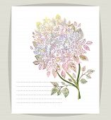 Beautiful Background With Flowers Rhododendron . Vector Illustration. Eps 10. poster