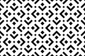 Abstract Geometric Pattern. A Seamless Vector Background. White And Black Ornament. Graphic Modern P poster