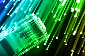 stock photo of utp  - Fiber optics background with lots of light spots - JPG
