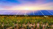 Solar Panel . Solar Photovoltaics Panels . Modern Solar Panels . Solar Energy . poster