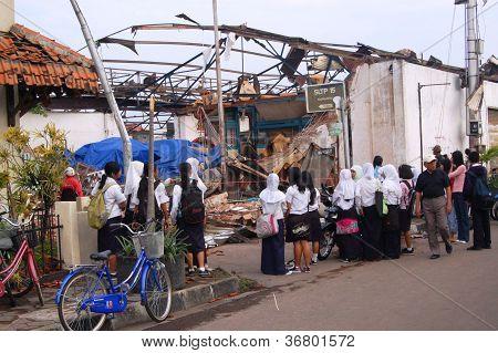 ravaged by a tornado