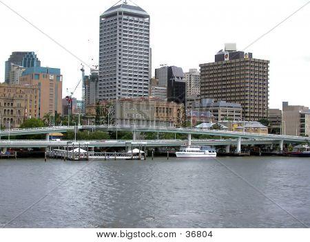 Bridge Across River And City