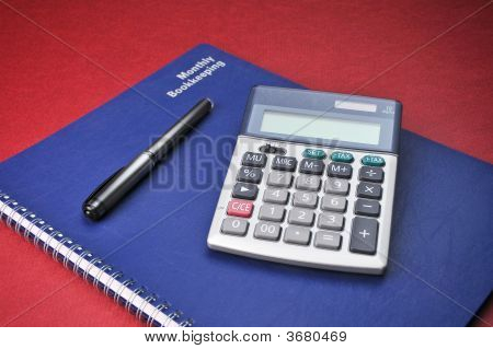 Business Books, Adding Calculator, Expenses, Bookkeeping, Pen