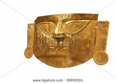 Peruvian Funerary Mask