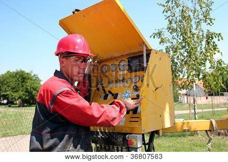 Óleo e gás trabalhador