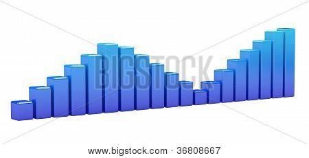 Bright Blue Graph