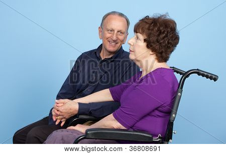 Elderly Couple Waiting
