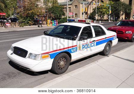 Calgary police vehicles