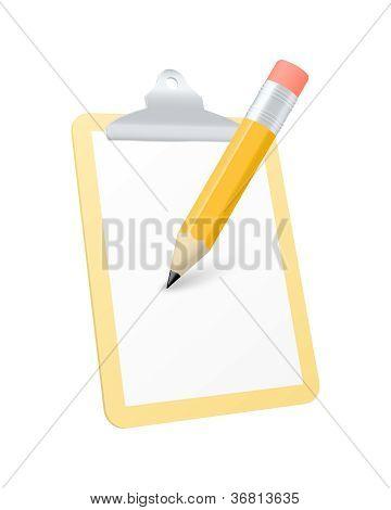 Clipboard Icon. Vector Illustration