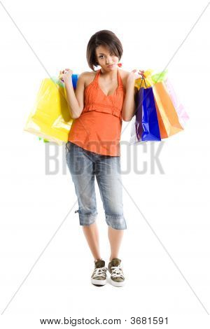 Black Woman Tired After Shopping