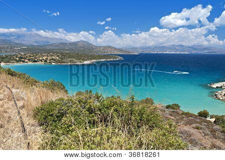 Mirabello bay at Crete island in Greece